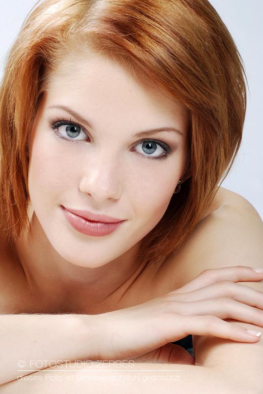 Portrait - Beauty Foto beim Fotoshooting mit Make Up