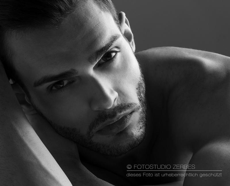 Close up portrait Foto von jungem Mann