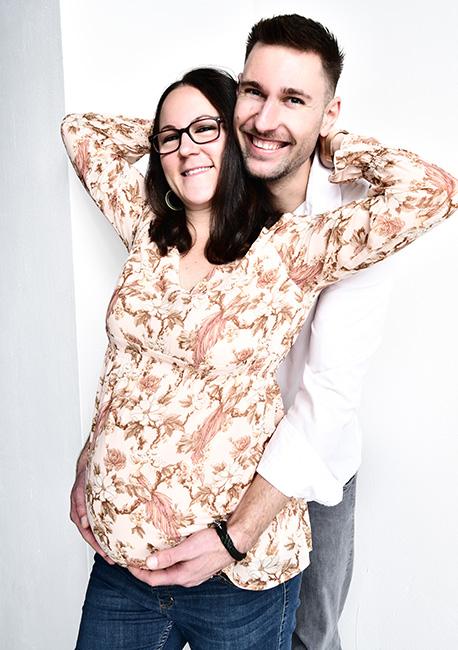 Sarah und Markus beim Schwangerschaftsfotoshooting